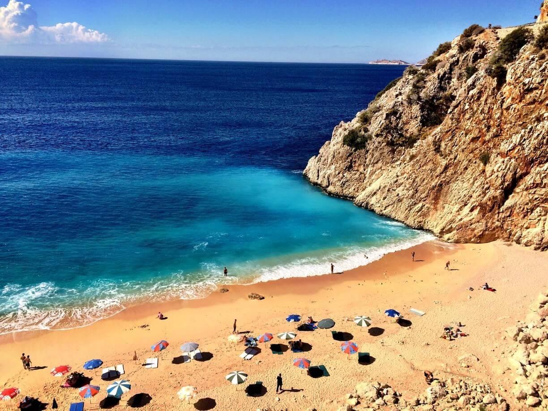 Beach in Kalkan to Kaş. Coast ; Antalya